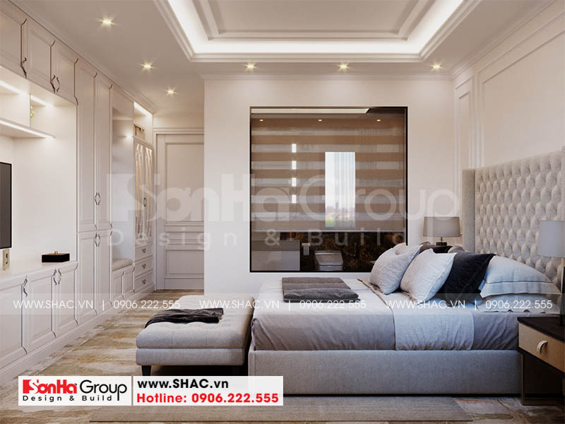 Thiết kế phòng ngủ đẹp từng tiểu tiết cho nhà phố Hoàng Huy Mall
