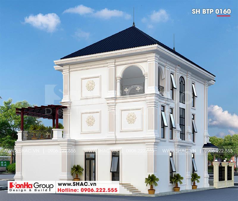Mẫu biệt thự tân cổ điển 3 tầng tại Quảng Ninh