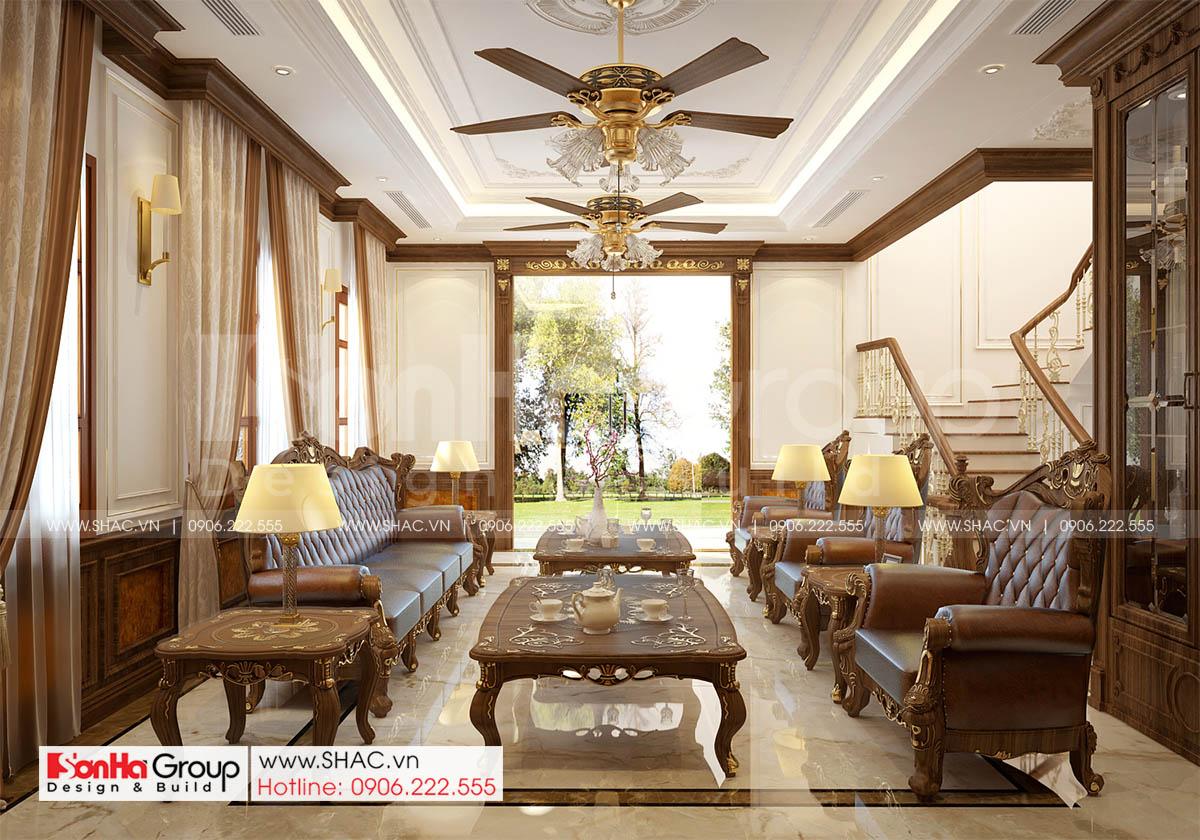 Mẫu nội thất phòng khách đẹp và sang trọng thể hiện đẳng cấp của gia chủ