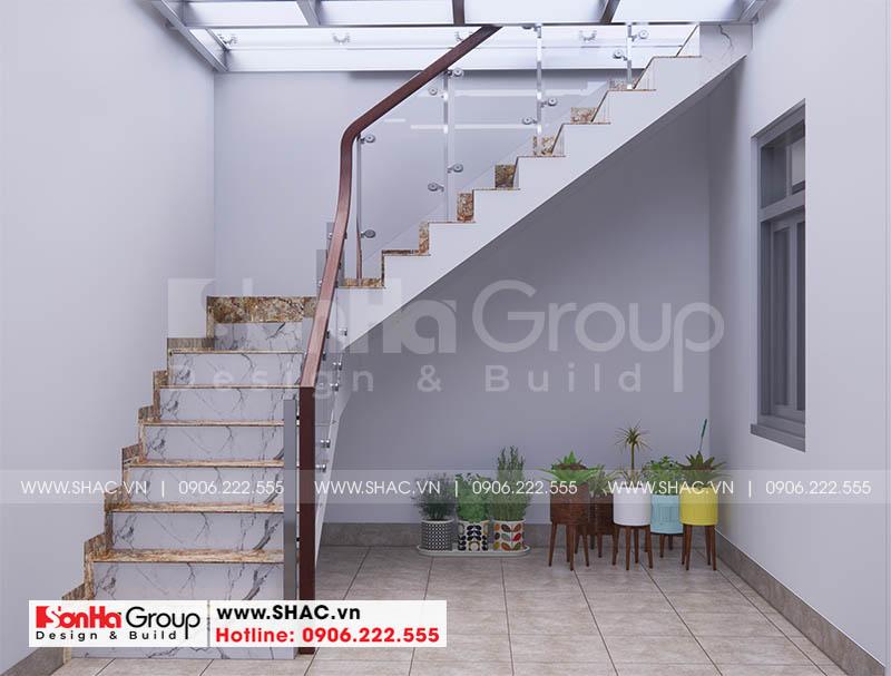Thiết kế sảnh thang kết hợp tiện ích khác nâng cao công năng