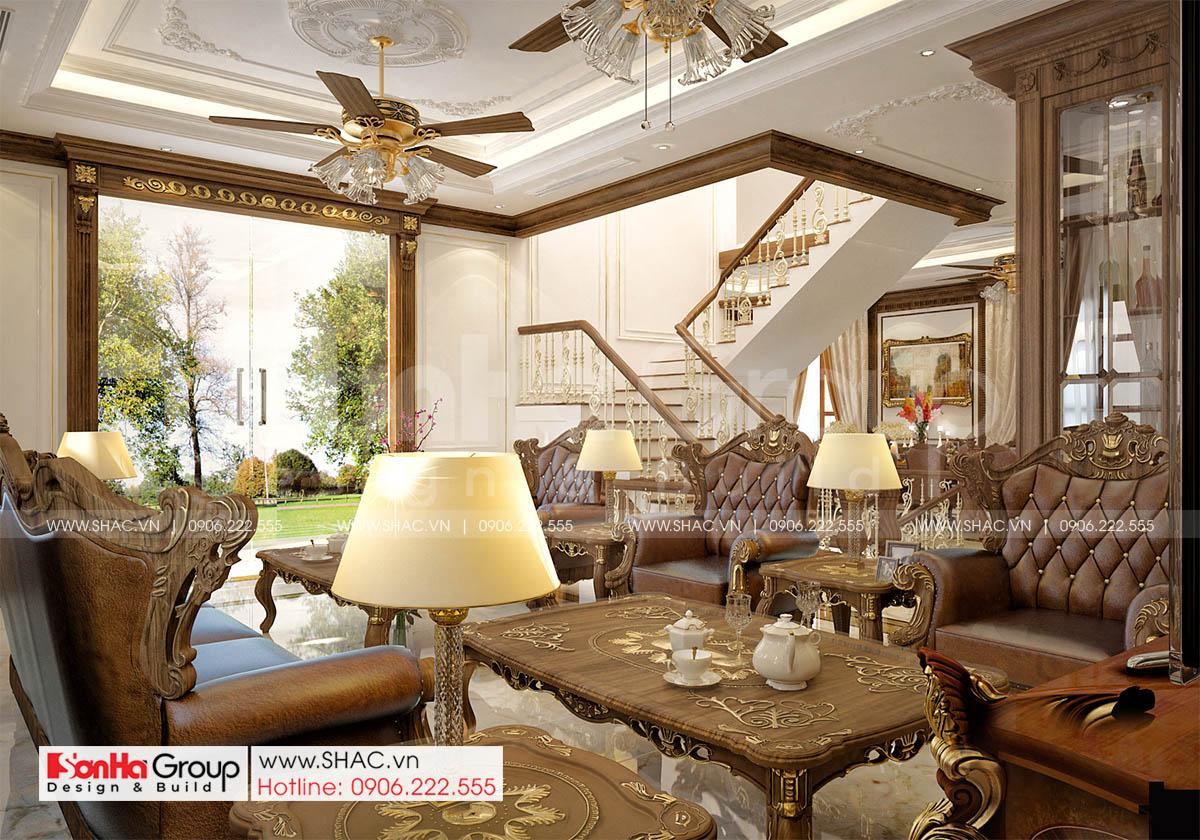 Không gian nội thất phòng khách sang trọng quý phái tại Hà Nội