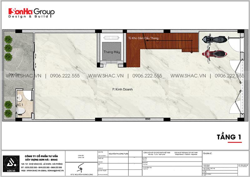 Công năng tối ưu tầng 1 nhà phố thiết kế tân cổ điển mặt tiền 6m