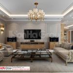 43 phòng khách lịch sự và trang nhã của biệt thự tân cổ điển 4 tầng SH BTP 0161