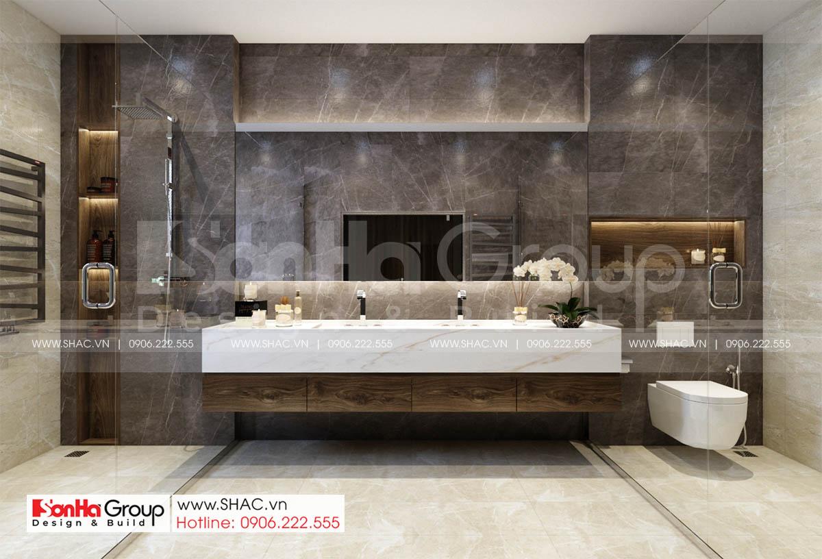 Phòng tắm tiện ích biệt thự tân cổ điển tại Hà Nội