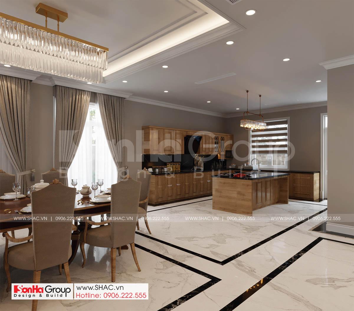Phòng bếp và nhà ăn của biệt thự tân cổ điển