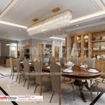 48 biệt thự tân cổ điển 4 tầng với phòng ăn trang nhã SH BTP 0161