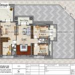 5 Bản vẽ tầng 2 biệt thự tân cổ điển mặt tiền 15m tại quảng ninh sh btp 0160