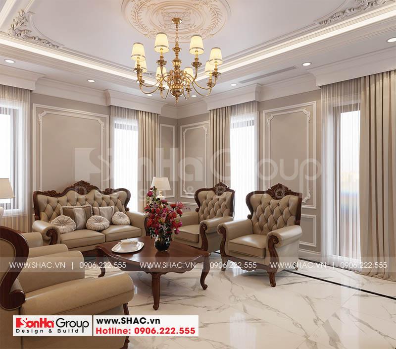 Không gian phòng khách ấm cúng nhờ sử dụng màu sắc tinh tế có duyên