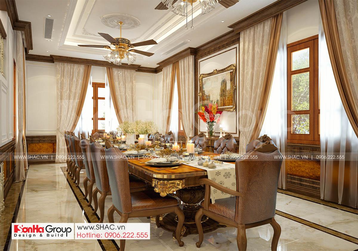 Không gian sang trọng trong phòng ăn tại Hà Nội