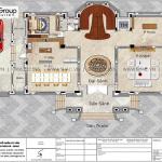 5 Mặt bằng tầng 1 biệt thự lâu đài đẹp tại hải dương sh btld 0047