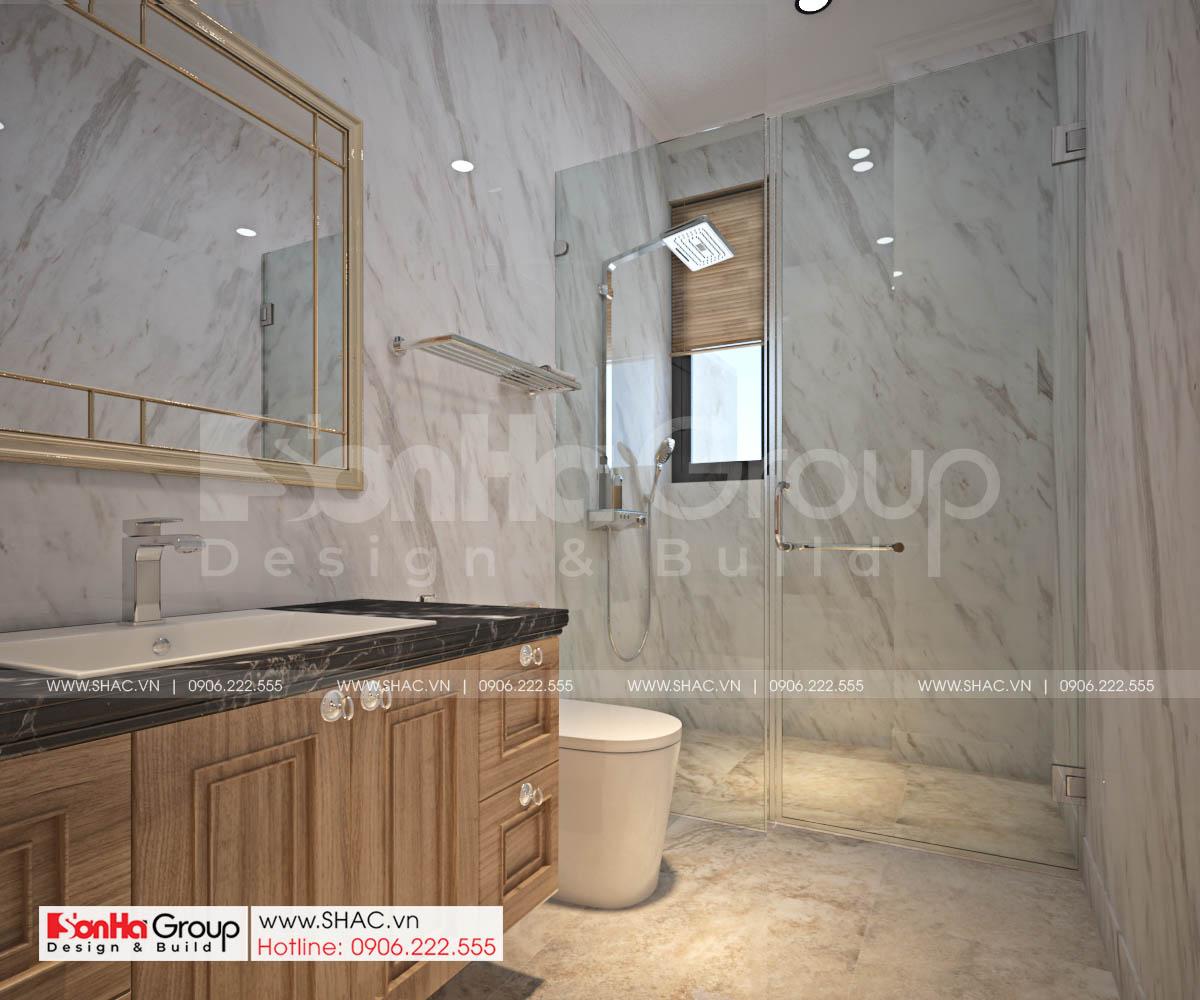 Nội thất cao cấp được sử dụng trong thiết kế WC nhà biệt thự SH BTP 0161