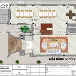 54 Thiết kế mặt bằng định vị tầng 1 biệt thự tân cổ điển tại hà nội sh btp 0162