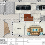 55 Mẫu thiết kế mặt bằng tầng hầm biệt thự tân cổ điển tại hà nội sh btp 0162