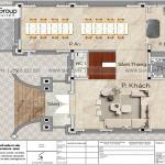 56 Mặt bằng  tầng 1 biệt thự tân cổ điển tại hà nội sh btp 0162