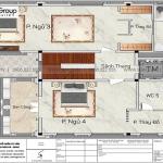58 Mặt bằng  tầng 3 biệt thự tân cổ điển tại hà nội sh btp 0162