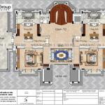6 Bản vẽ tầng 2 biệt thự lâu đài 4 tầng 1 tum tại hải dương sh btld 0047