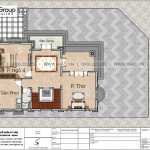 6 Mặt bằng tầng 3 biệt thự kiểu tân cổ điển đẹp tại quảng ninh sh btp 0160