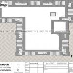 60 Mặt bằng tầng mái biệt thự tân cổ điển tại hà nội sh btp 0162