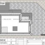 7 Bản vẽ tầng áp mái biệt thự tân cổ điển 3 tầng tại quảng ninh sh btp 0160