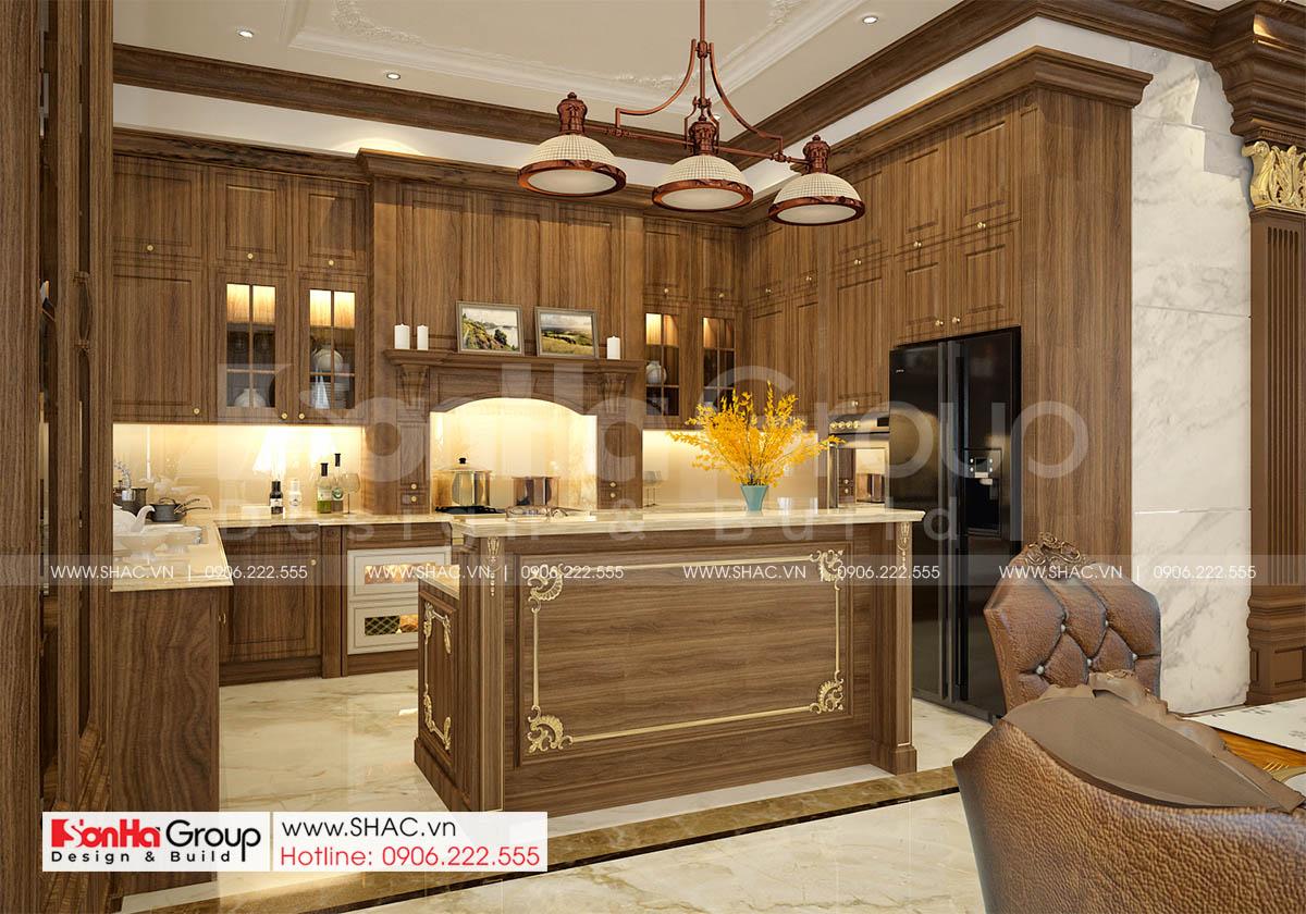 Không gian nội thất phòng bếp sang trọng và quý phái