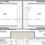 8 Bản vẽ mặt bằng tầng mái biệt thự tân cổ điển tại sài gòn sh btp 0161