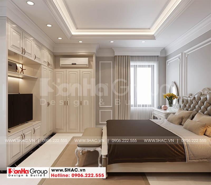 Mãn nhãn cách trang trí nội thất phòng ngủ tân cổ điển nhà phố Hoàng Huy Mall