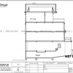 9 Bản vẽ mặt đứng trục A A biệt thự tân cổ điển tài sài gòn sh btp 0161