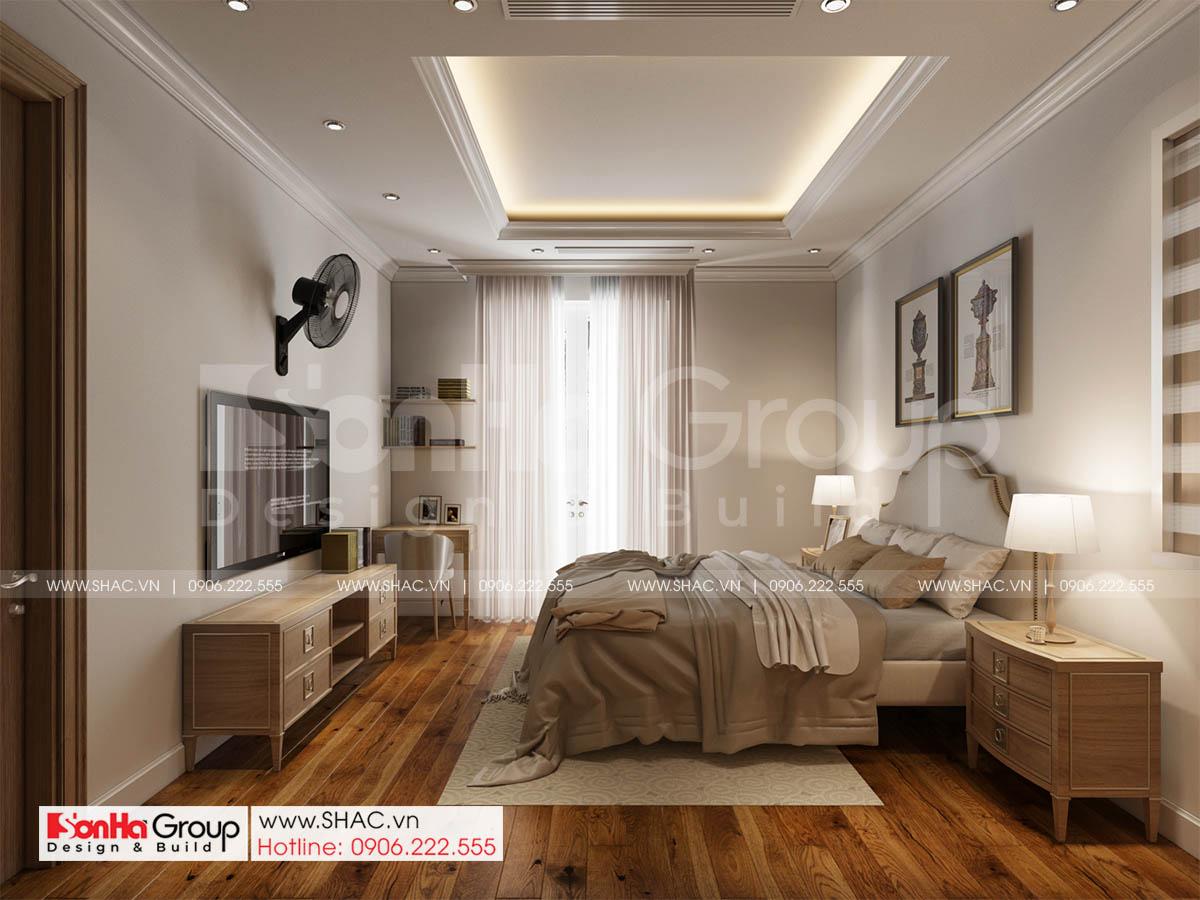 Không gian ấm cúng và thanh lịch trong phòng ngủ phong cách tân cổ điển tại Sài Gòn