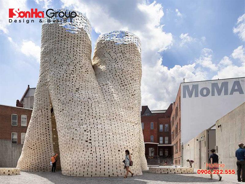 Bảo tàng Nghệ thuật hiện đại MoMA PS1 được xây dựng bằng phương pháp mới