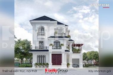 BIA Thiết kế biệt thự tân cổ điển 2 mặt tiền tại Quảng ninh sh btp 0160