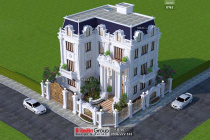 Biệt thự 3 tầng rộng 300m2 có gara sân cổng