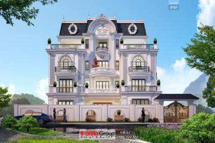 Biệt thự 4 tầng diện tích 250m2 tân cổ điển