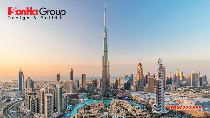 Burj Khalifa là một trong những tòa nhà cao nhất thế giới