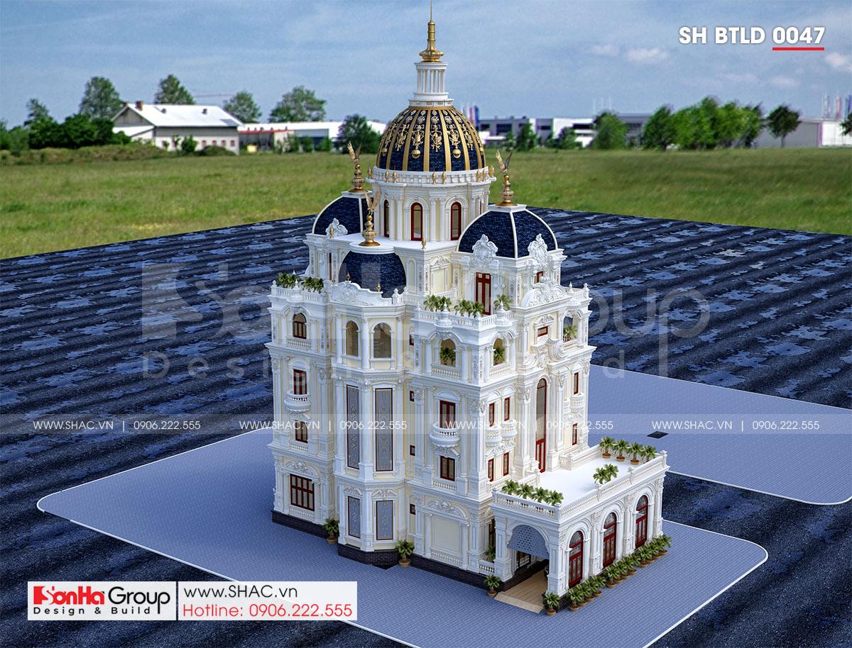 Biệt thự lâu đài 4 tầng 1 tum thiết kế hoàn hảo khiến vạn người mê tại Hải Dương – SH BTLD 0047 7