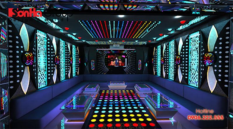 Mẫu thiết kế nội thất phòng karaoke tại gia thể hiện đẳng cấp gia chủ