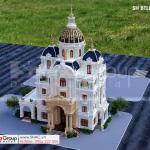 Thiết kế biệt thự lâu đài 4 tầng 530m2  tại Hải Dương sh btld 0047