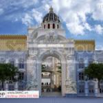 1 kiến trúc mặt tiền trung tâm tiệc cưới sang trọng và lộng lẫy tại Đồng Nai SH BCK 0053