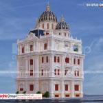 1 thiết kế biệt thự lâu đài 3 tầng 1 tum tại cần thơ BTLD 0048