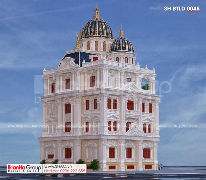 Thiết kế biệt thự lâu đài 3 tầng 1 tum tại Cần Thơ