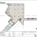 13 bản vẽ công năng sử dụng tầng trệt thiết kế trung tâm tiệc cưới 4 tầng tại Đồng Nai SH BCK 0053