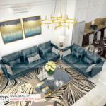 13 quang cảnh nội thất trong phòng khách biệt thự 2 tầng mặt tiền 8m tại Hải Phòng SH BTD 0082