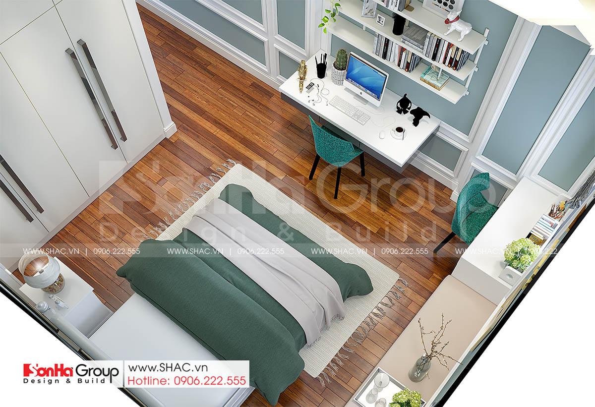 Phòng ngủ 3 đẹp ấn tượng trong nhà phố tinh tế 4 tầng tại Hải Dương