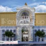 2 thiết kế trung tâm tiệc cưới 4 tầng nguy nga tráng lệ tại Đồng Nai SH BCK 0053