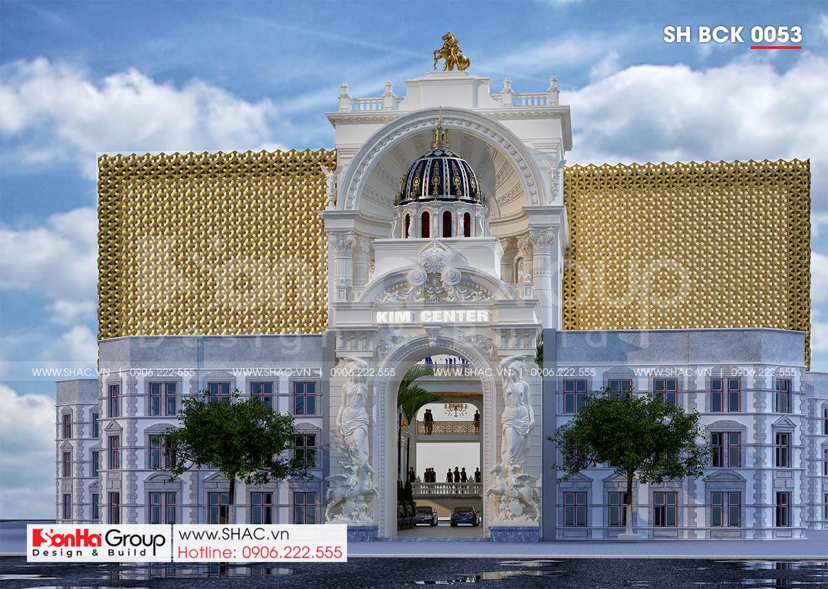 Thiết kế trung tâm tiệc cưới 4 tầng nguy nga tráng lệ tại Đồng Nai