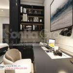 21 không gian bàn làm việc trong hiện đại trong thiết kế biệt thự hiện đại SH BTD 0082