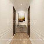 26 hành lang rộng thoáng trong thiết kế biệt thự mini hiện đại SH BTD 0082