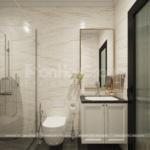 28 WC sang trọng trong thiết kế biệt thự 2 tầng mặt tiền 8m SH BTD 0082