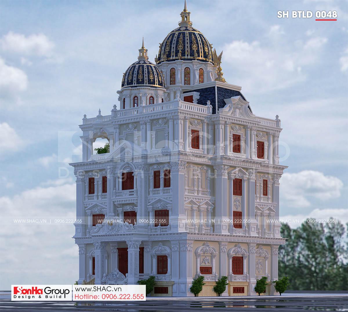 Ngẩn ngơ trước thiết kế biệt thự lâu đài 3 tầng 1 tum tráng lệ tại Cần Thơ – SH BTLD 0048 3