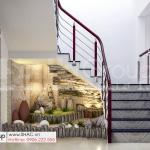 3 tiểu cảnh dưới cầu thang tầng 1 nhà phố tân cổ điển mặt tiền 4m tại Hải Dương SH NOP 0216