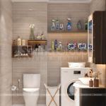 34 gợi ý bài trí nội thất nhà vệ sinh của thiết kế nhà ống diện tích 72m2 tại Hải Dương SH NOP 0216